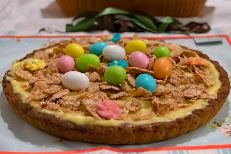 Crostata di Pasqua con crema pasticcera