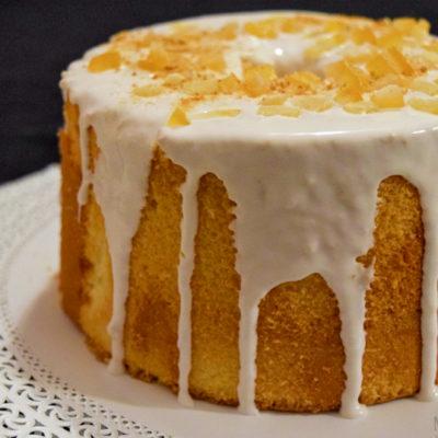 Chiffon Cake glassata con scorzette di arancia e zenzero