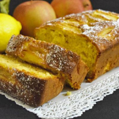 Plumcake alle mele e limone senza burro