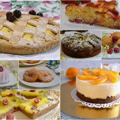 Raccolta di dolci a base di frutta