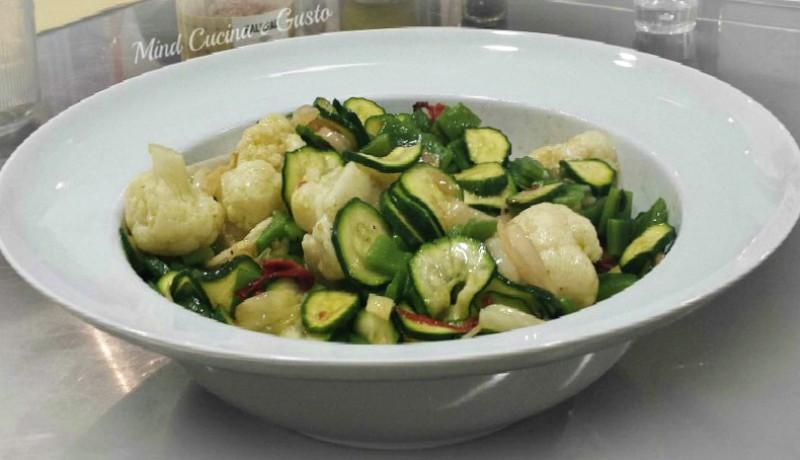 Caponata di verdure sbianchite e verdure confit