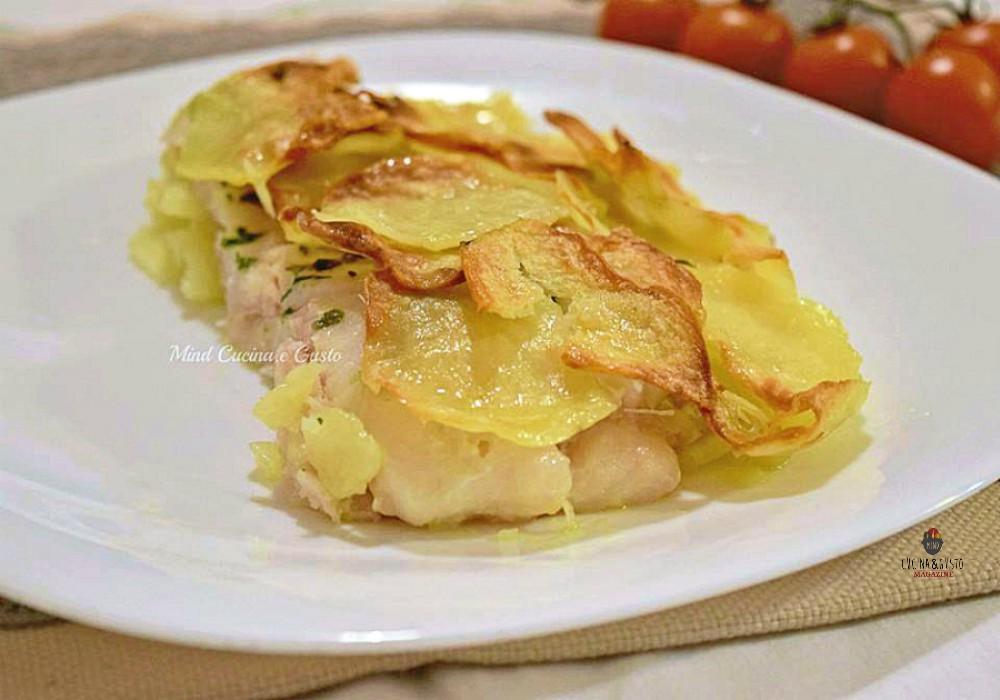Filetti di merluzzo in sfoglia di patate croccanti