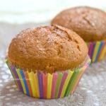 Muffin con panna acida e mele