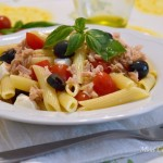 Penne estive con tonno e pomodorini