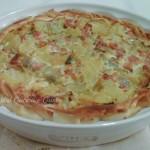 Quiche di patate e carciofi