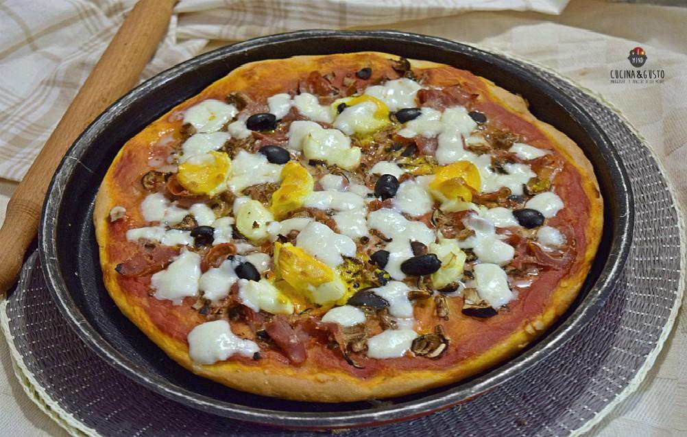 Pizza capricciosa fatta in casa