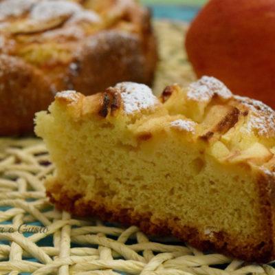Torta soffice di mele e limone
