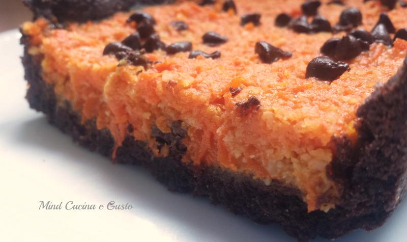 Torta speziata con zucca e gocce di cioccolato