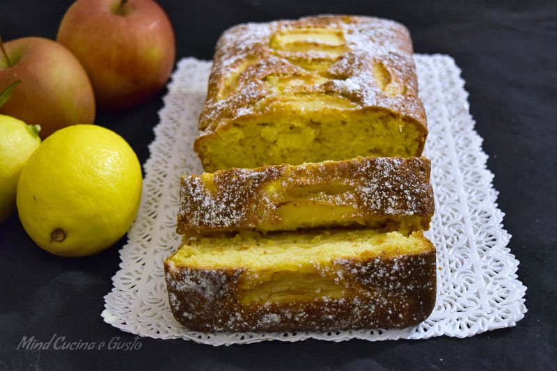 Plumcake alle mele e limone senza burro 5