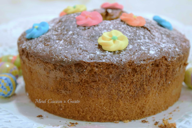 chiffon cake di Pasqua