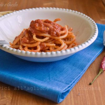 Pici all'aglione ricetta toscana