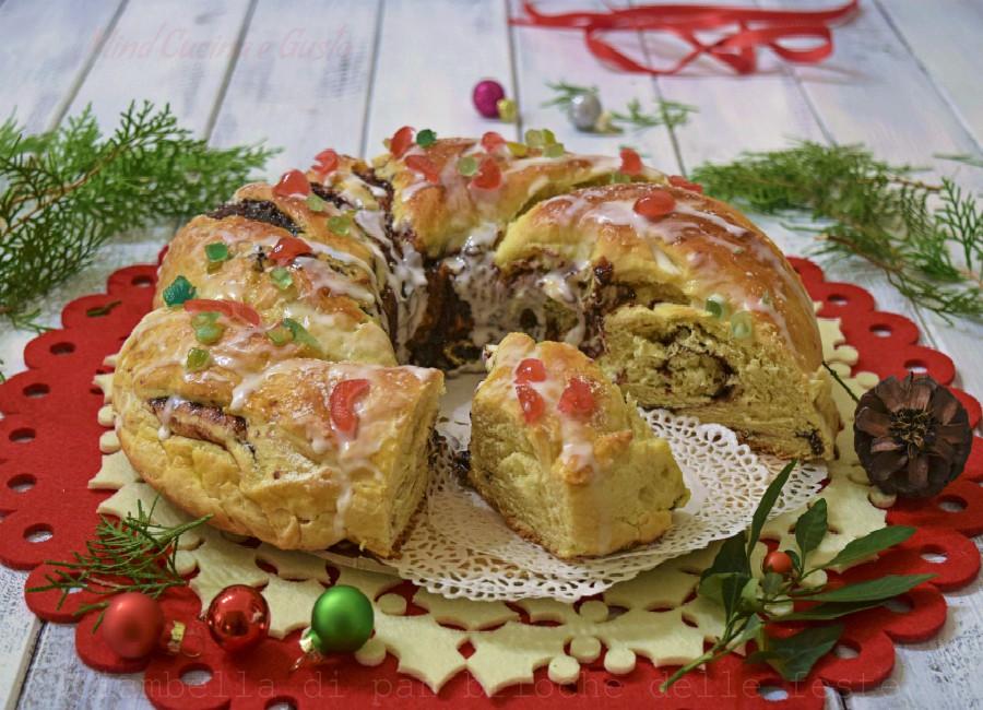 Ciambella di pan brioche delle feste
