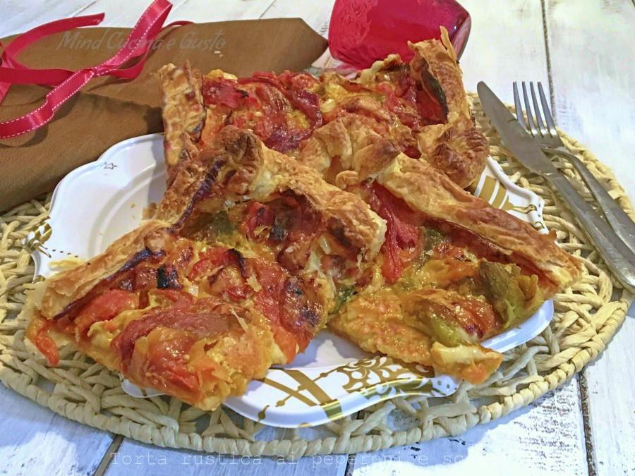 Torta rustica ai peperoni e scamorza
