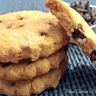 Cookies vegan con gocce di cioccolato