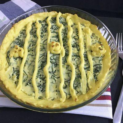 Torta di patate e agretti senza pasta sfoglia