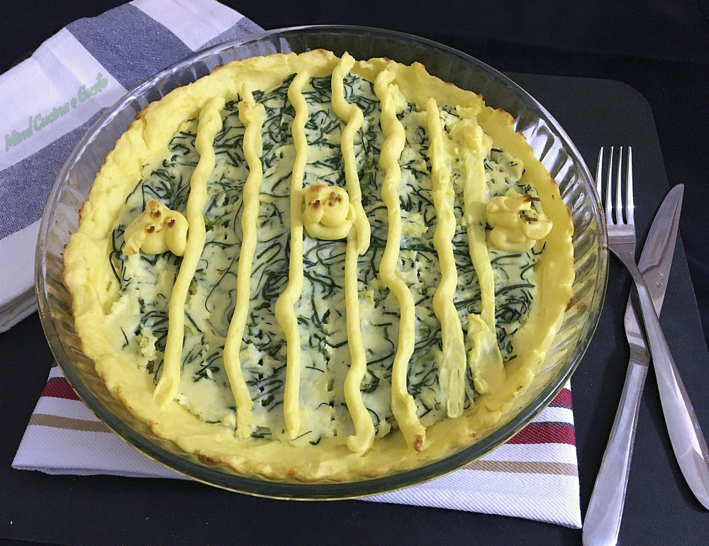 Torta di patate e agretti