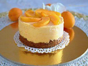 Cheesecake monodose alle albicocche