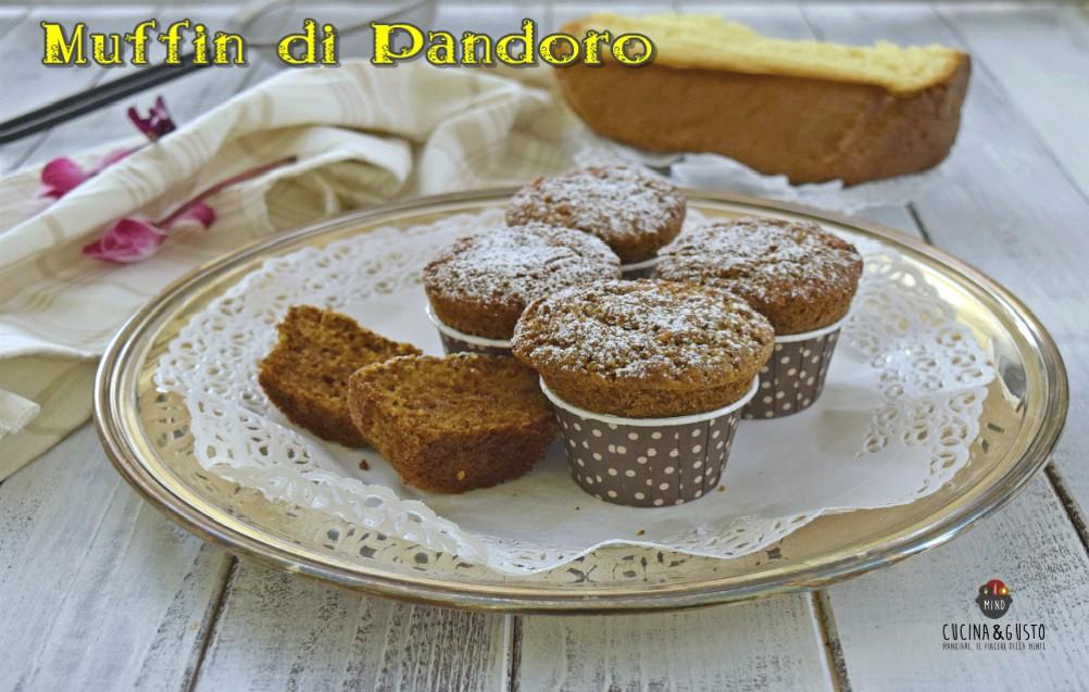 Muffin di pandoro alla cannella e arancia