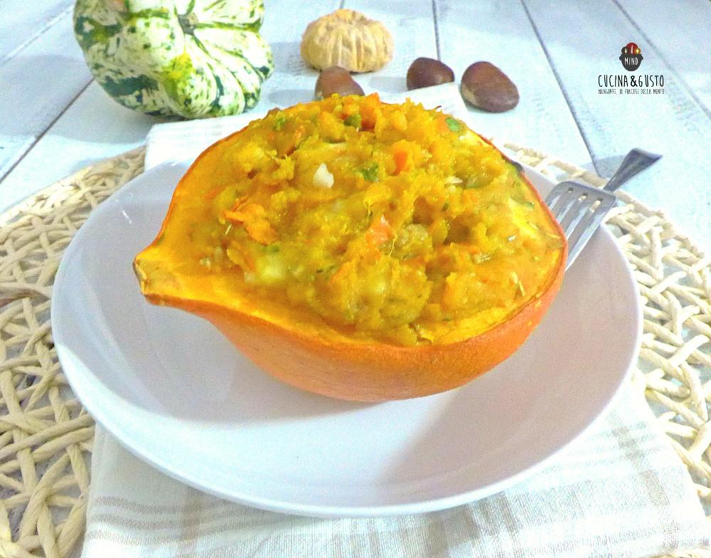 Ricette Con Zucca Hokkaido.Zucca Hokkaido Ripiena Al Forno Ricetta Facile Gusto Autunnale Al Top