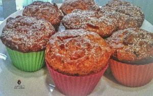 Muffin Rose del deserto con cornflakes e cioccolato senza burro