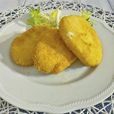 Mozzarella alla milanese fritta