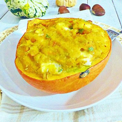 Zucca Hokkaido al forno ripiena - ricetta facile