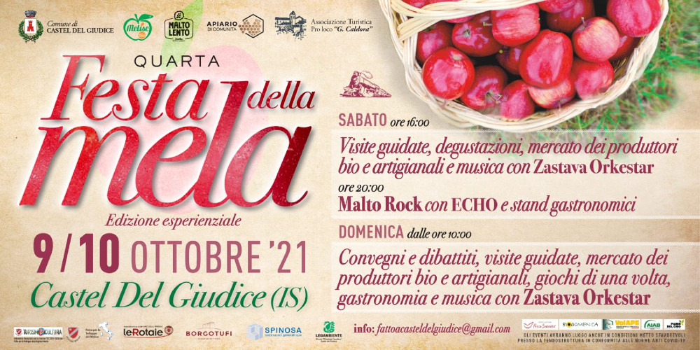 Castel del Giudice, la 4° festa della Mela un'edizione esperenziale